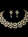 Smykker Set Dame Guld/Legering Imiteret Perle/Rhinsten
