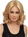 naturliga syntetiska peruker värmevänliga fiber gyllene blond höjdpunkt peruk