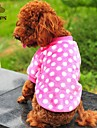 Dog / Cat Coat / Shirt / T-Shirt Red / Purple / Orange / Rose Winter Polka Dots Wedding / Cosplay