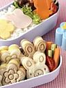 gullig björn blomma kanin smörgås mögel sushi tårta mögel ägg fräs