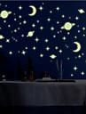 lysande väggdekorationer väggdekaler stil litet universum pvc väggdekorationer