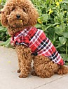 Dog / Cat Shirt / T-Shirt Red / Green / Blue Summer Plaid/Check Wedding / Cosplay