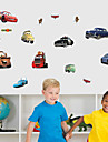 Wall Stickers Wall Decals, Cartoon Cars PVC Wall Sticker
