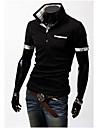 T-Shirts ( Coton melange ) Informel Col chemise a Manches courtes