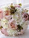 """Flori de Nuntă Rotund Trandafiri Buchete Nuntă Poliester Satin Mărgea Spumă 9.45""""(Approx.24cm)"""