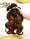 3st / lot brasilianska jungfru hår t-färg vågigt hår 100% människohår förlängning brasilianskt hår väva buntar
