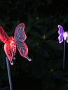 2-pack sol färgskiftande fjärilsträdgård insats ljus