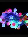 50-ledda 9m vattentät utomhus jul semester dekoration rgb ljus ledde sträng ljus (AC220V)
