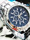 bande d\'acier de quartz analogique de geneve hommes de montre decontracte (couleurs assorties)