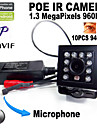 Dag Natt/Rörelsedetektor/PoE/Dual Stream/Fjärråtkomst/IR-cut/Plug and play - IP-kamera ) - till Inomhus - Mini
