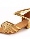 Chaussures de danse(Argent Or) -Non Personnalisables-Talon Bottier-Similicuir-Latine