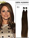 100s jag tippa pre bundna keratin lim fusion hår 100% indiska Remy mänskliga naturliga hårförlängningar