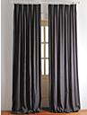 Două Panouri Tratamentul fereastră Țara Modern Neoclasic Mediteranean European Designer  , Solid Dormitor Amestec In / Bumbac Material