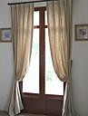 Två paneler Fönster Behandling Europeisk Designer Rustik Modern Medelhavet , Solid Vardagsrum Linne/Bomull blend Materialgardiner