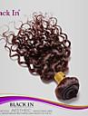 """1 st mycket 8 """"-30"""" brasilianska djupa curl jungfru hårwefts chokladbrun 4 # människohår väva vågiga buntar härva gratis"""