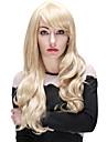 Longues femmes de la mode boucle 30 pouces de perruque blonde synthetique