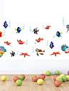style Stickers muraux autocollants de mur monde fonds marins mur couleur de PVC de bande dessinee autocollants