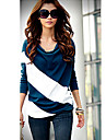 Women\'s Casual Loose-fitting Color Block T-shirt