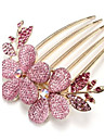 Korean Style Flower Alloy Comb(4 color)(1Pc)