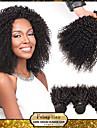 mongoliska jungfru kinky lockigt hår väva naturligt svart 8-30 tum 1st mycket 100g per bunt