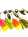 "4pcs pcs Spinnerbaits / leurres de peche Leurre Buzzbait & Spinnerbait Others 14.8g g/1/2 Once mm/2-3/4"" pouce,Metal / Plastique dur /"