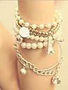 Casual Legering/Imitation af ægte perle Lænke/kæde Armbånd