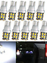 lorcoo ™ 20pcs x t10 20smd 3528 led blanche lumieres de voiture ampoule 194 168 2825 5W (2 set)