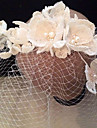 Bride\'s Flower Shape Rhinestone Foehead Wedding Birdcage Veils 1 PC
