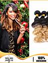 3pcs / lot cheveux humains vierges tisse cheveux de vague de corps de trame faisceaux de cheveux bresiliens Ombre cheveux bresiliens tisse