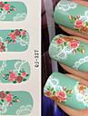1 - Autocollants 3D pour ongles - Doigt - en Fleur - 9X7X0.1
