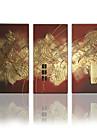 Peint a la main Abstrait / FantaisieModern Trois Panneaux Toile Peinture a l\'huile Hang-peint For Decoration d\'interieur