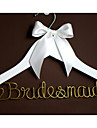 Personalized Custom Wedding Dress Hanger with Gold Wire Names for Bridesmaid or Groomsman