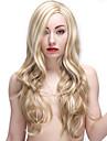 28 pouces blonds perruques synthetiques longue perruque femme boucles
