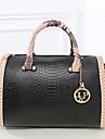 Femme Polyurethane Formel / Decontracte / Bureau & Travail / Shopping Sac a Bandouliere / Cabas Blanc / Rose / Bleu / Rouge / Noir