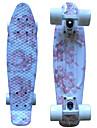 rosa blom- plast skateboard 22 tums mini cruiser med ABEC-9 kullager