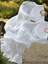 Belly Dance Silk Fan Veils High Quality Real Silk Fabric White 2pcs/L+R