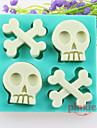 skallben fondant kakan choklad silikon formar, verktyg dekoration bakeware