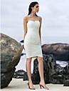 Lanting Bride® Sheath / Column Wedding Dress Knee-length Sweetheart Tulle with
