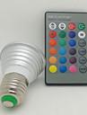 3W E26/E27 LED-spotlights 1 Högeffekts-LED 130 lm RGB Fjärrstyrd AC 85-265 V 1 st