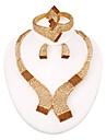 westernrain 2014 brun strass charm halsband örhängen kvinnor skönhet guldpläterad afrikanska smycken uppsättningar
