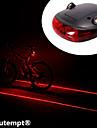 Eclairage de Velo / bicyclette / Lampe Arriere de Velo LED / Laser Cyclisme Etanche / Resistant aux impacts AAA Lumens Batterie Cyclisme-