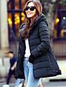 Manteaux & Vestes ( Coton biologique / Polyester ) Informel Asymetrique a Manches longues pour Femme