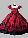 Une Piece/Robes Gothique Steampunk® / Inspiration Vintage Cosplay Vetements de Lolita Rouge Vintage Manches courtes Long Robe Pour Femme