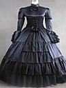 steampunk®black satin medeltida klänning klänning lång gotiska parti klänning halloween dräkt