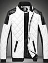Bărbați Stand Jachetă Zilnice Stradă Art Deco / Retro,Culoare Mixtă Manșon Lung Toamnă Iarnă-Regular N/A