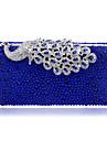Bolso de Mano / Bolso de Noche - Minaudiere - Poliester / Metal - Azul - Mujer