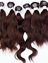 Human Hår vävar Indiskt hår Naturligt vågigt 12 månader hår väver