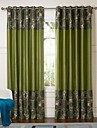 Two Panels ture  Multi-color Polka Dots Poly  Cotton Blend Panel Curtains Drapes