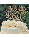 Personalized Linden Wood Rustic Wedding Cake Topper with Couples Last Name