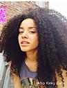 """6a 100% non transformes mongol coquins perruques de dentelle de cheveux avant boucles afro perruques frisees coquins 8 """"-24"""" densite de"""